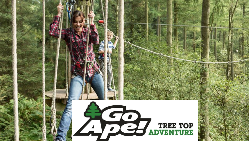 GO APE MILITARY DISCOUNT + PROMOTIONS. We have teamed up with GO APE to bring you some awesome adventures for your holidays! Days out should be fun and full of adventure, and that's what you get with GO APE! Experience the thrill of Tarzan!!
