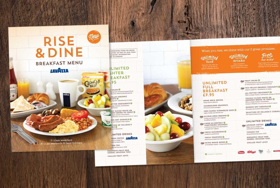 travelodge breakfast menu - armed forces discount