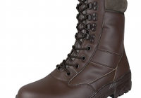 FULL BROWN LEATHER ARMY COMBAT BOOTS